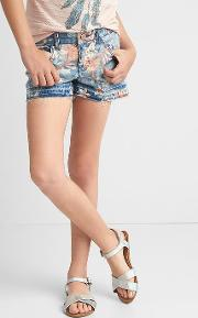 Gap , Stretch Tropic Floral Shorty Shorts Denim