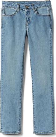 Gap , Stretch Straight Jeans Light Wash