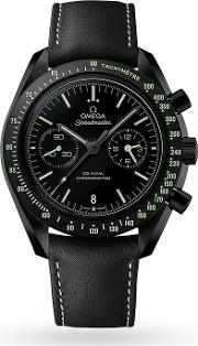 Omega , Dark Side Of The Moon Pitch Black Mens Watch