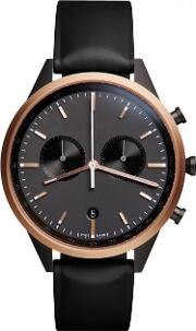 Uniform Wares , C41 Rose Gold Pvd Plated Chronograph Watch