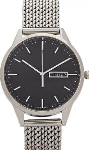 Uniform Wares , C40 Silver Tone Watch