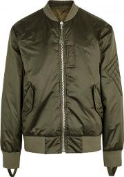 Army Green Reversible Shell Bomber Jacket Size M