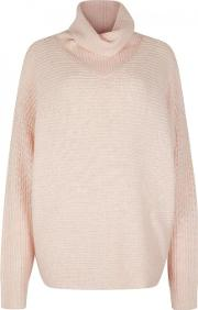 Duffy , Light Pink Roll Neck Jumper Size M