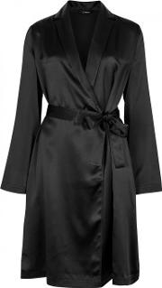 Black Silk Robe Size 2