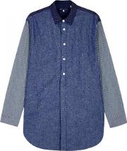 Levis Made & Crafted , Levi's Made & Crafted Indigo Panelled Cotton Blend Overshirt Size 2