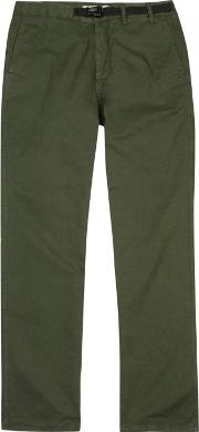 Norse Projects , Laurits Army Green Cotton Trousers Size W34