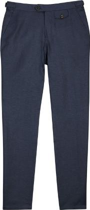 Oliver Spencer , Linton Navy Linen Trousers Size W30