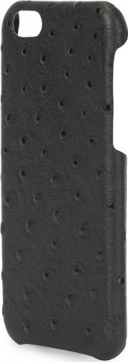 The Case Factory , Black Ostrich Effect Leather Iphone 6 Case