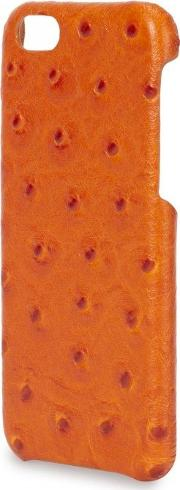 The Case Factory , Orange Ostrich Effect Leather Iphone 6 Case