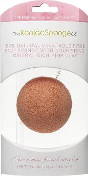 The Konjac Sponge Company , French Pink Clay Facial Puff Sponge