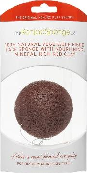 The Konjac Sponge Company , French Red Clay Facial Puff Sponge