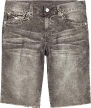 True Religion , Ricky Grey Corduroy Shorts Size W36