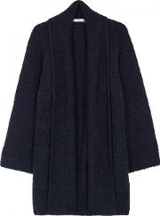 Vince , Navy Textured Wool Cardigan Size M