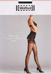 Wolford , Pure Black 30 Denier Support Tights Size L