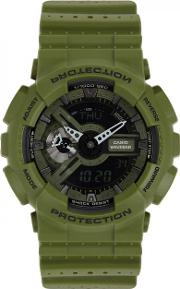G Shock Ga110l Green Resin Watch