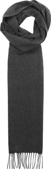 Johnstons Of Elgin , Charcoal Cashmere Scarf