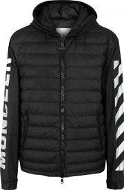 Moncler O , Black Quilted Shell Jacket Size 2