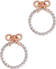 Olivia Burton , Vintage Bow Silver And Rose Gold Plated Earrings