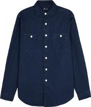 Polo Ralph Lauren , Indigo Cotton Chambray Shirt Size M
