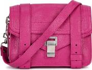 Ps1 Mini Pink Leather Satchel