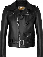 Schott Nyc , One Star Black Leather Biker Jacket Size 38