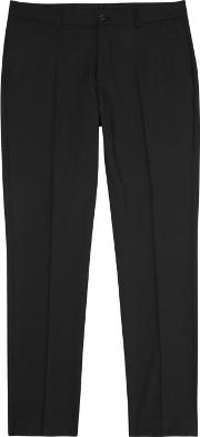 Tiger Of Sweden , Herris Black Stretch Wool Trousers Size W30
