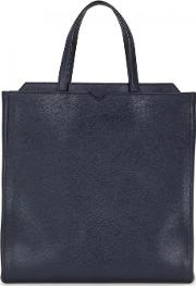 Valextra , Dark Blue Leather Tote