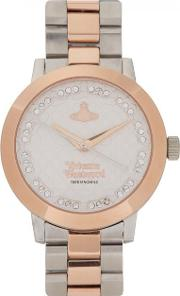 Bloomsbury Silver And Rose Gold Tone Watch