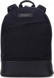 Want Les Essentiels , Kastrup Navy Canvas And Leather Backpack