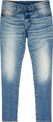 True Religion , Rocco Blue Slim Leg Jeans Size W32