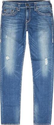 True Religion , Rocco Super T Blue Slim Leg Jeans Size W32