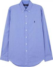 Blue Custom Cotton Oxford Shirt Size Xl
