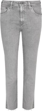 Ag Jeans , The Isabelle Grey Slim Leg Jeans Size W26