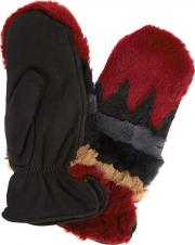 Sylvia Rabbit Fur And Suede Mittens