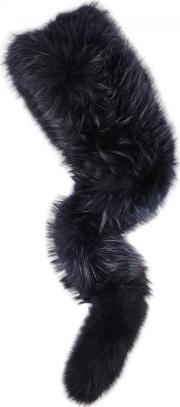 Charlotte Simone , Popsicle Midnight Blue Fur Scarf