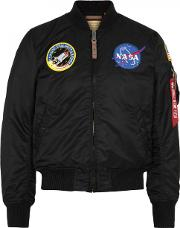 Alpha Industries , Nasa Ma 1 Black Shell Bomber Jacket Size S