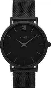Cluse , Minuit Black Stainless Steel Watch