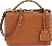 Mark Cross , Grace Small Brown Leather Box Bag