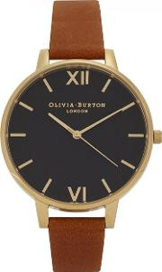 Black Dial Gold Plated Watch