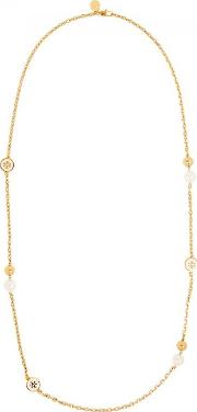 Tory Burch , Swarovski Pearl Embellished Necklace