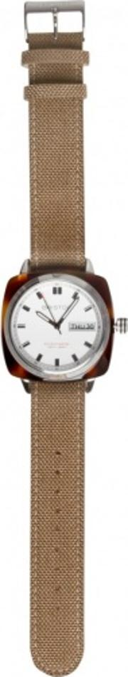 Briston , Clubmaster Chronograph Watch Sports Edition With Sand Woven Strap