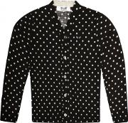 Comme Des Garcons Play , Play Mens Polka Dot Cardigan Black
