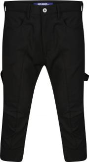 Junya Watanabe Man For Comme Des Garcons , Structured Cropped Soft Trousers Black