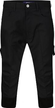 Junya Watanabe Man For Comme Des Garcons , Structured Pinstripe Cropped Trousers Navy Blue