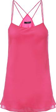 Quiz , Hot Pink Chiffon Strappy Back Top, Pink