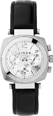 Links Of London , Brompton Silver Dial Chronograph, Silver