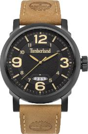 Timberland , Gents Brown Leather Strap Watch, Brown