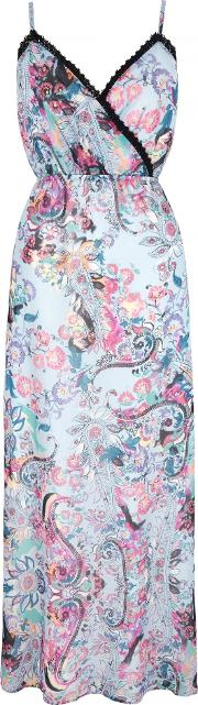 Uttam Boutique , Paisley Print Strappy Maxi Dress, Blue