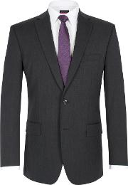 Pierre Cardin , Men's  Twill Single Breasted Suit Jacket, Charcoal