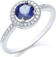 Bouton , Delicate Round Stone Ring, Silver